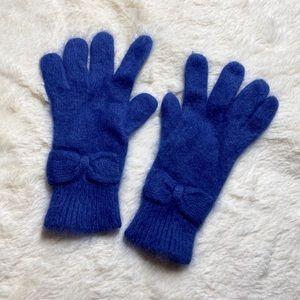 Old Zara Mohair Royal Blue Gloves